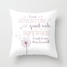 Great Wide Somewhere Throw Pillow