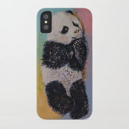 Baby Panda Rainbow iPhone Case