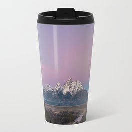 Pink Sunrise in Grand Teton Travel Mug