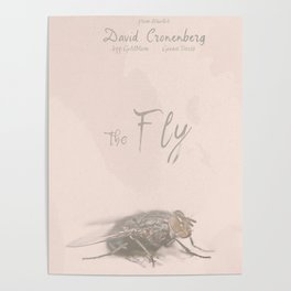 The Fly - Movie poster from David Cronenberg's classic horror film with Jeff Goldblum Poster