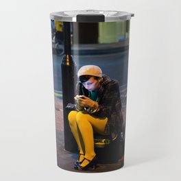 Lady in Yellow - Brick Lane, London Travel Mug