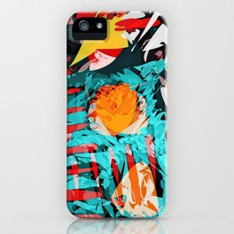 abstract colored chaos iPhone Case