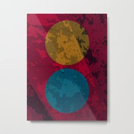 Sun and Earth Abstract Art Landscape Minimalism Metal Print