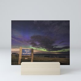 May Aurora at Old Garden Beach Mini Art Print