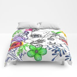 Bet You Guessed I Like Flowers Comforters