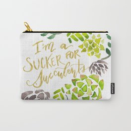 Sucker for Succulents Carry-All Pouch