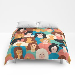 CUTE ALL-OVER WOMENS MARCH PATTERN Comforters