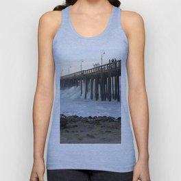 Ventura Ocean Wave Storm Pier Unisex Tank Top
