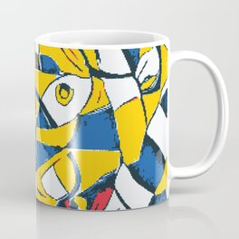 Pixelated Abstract Art Coffee Mug