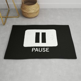 Pause Button Rug
