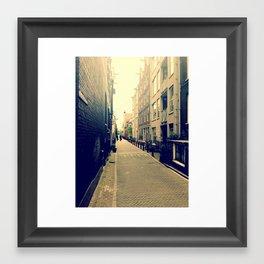London alley Framed Art Print