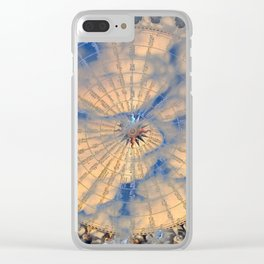 Compass Rose Obscured By Clouds Clear iPhone Case