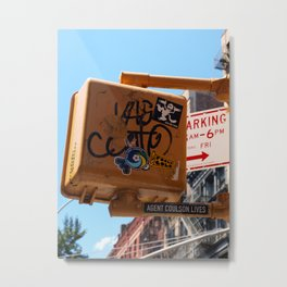 New York wisdom; guess who lives? Metal Print
