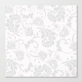 Vintage of white elegant floral damask pattern Canvas Print