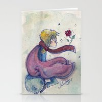 the little prince Stationery Cards featuring Little prince by Nikolazza