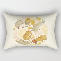 Things Squirrels Probably Shouldn't Be Eating Rectangular Pillow