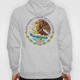 Mexican National Coat of Arms & Seal on Adobe Red Hoody