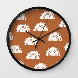 rainbow pattern Wall Clock