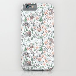 Enchanted Forest Map iPhone Case