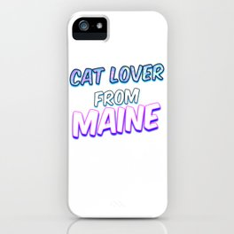 Dog Lover From Maine iPhone Case