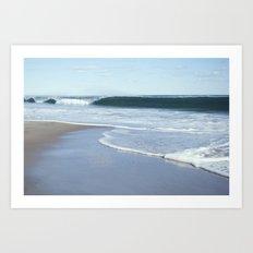 coastal wave Art Print