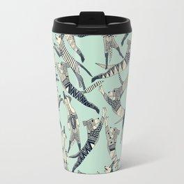 dog party indigo mint Travel Mug