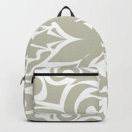 grey floral pattern Backpack