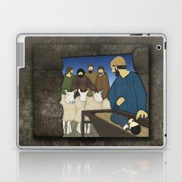 Nativity: Shepherds visit baby Jesus in the Bethlehem manger Luke 2:8-20 Laptop & iPad Skin