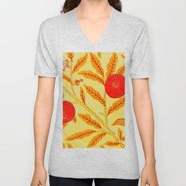 Morris Fruit Persimmon Unisex V-Neck
