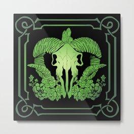 Negative green Metal Print