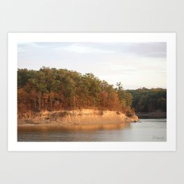 Wolf Creek Park Bluff Art Print