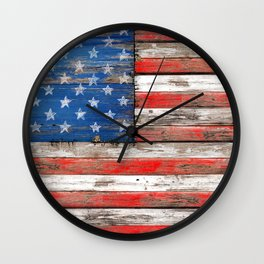 USA Vintage Wood Wall Clock