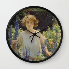 Charles Courtney Curran - A Breezy Day Wall Clock
