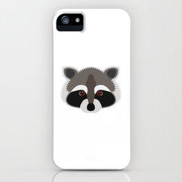 Raccoon Face iPhone Case