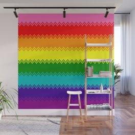 pixel pride- Gilbert Baker gay pride flag Wall Mural