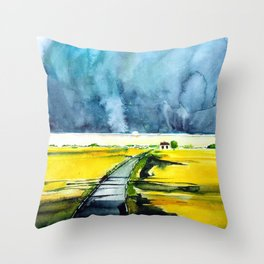 When the Storm Passed Throw Pillow