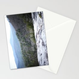 Live life on the edge  Stationery Cards