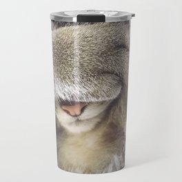 sleepy cat Agatha Travel Mug
