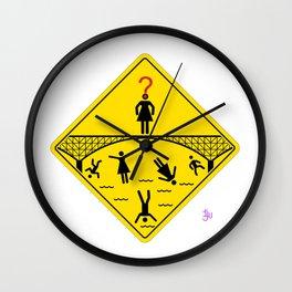 Jump Off Bridge Girl Wall Clock