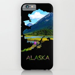 Alaska Outline - God's Country iPhone Case