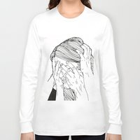 introvert Long Sleeve T-shirts featuring Introvert 1 by Heidi Banford