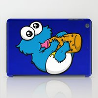cookie monster iPad Cases featuring Cookie Juice by BinaryGod.com