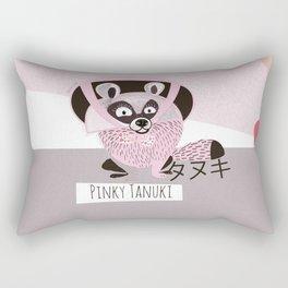 Pinky Tanuki (c) 2017 Rectangular Pillow