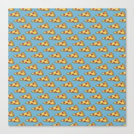 Doodle Pizza Lover Pattern Canvas Print