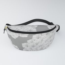 Flowerpower - Flower Balls On A Grey Background - #society6 Fanny Pack