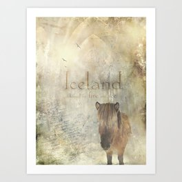Iceland, forged by fire and ice Art Print