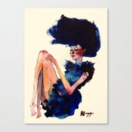 Girl in Blue Canvas Print