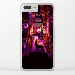 Deer overlooking the city by GEN Z Clear iPhone Case