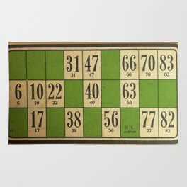 FREnch vintage loto game Rug