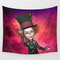 mad hatter Wall Tapestries featuring Mad Hatter by apgme